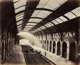 Bayswater Station, London, looking towards Kensington, c 1867.