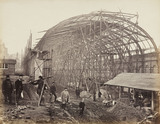 High Street Kensington Station under construction, London, c 1867.
