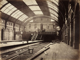 Gloucester Road Station, London, during construction, c 1867.