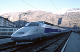 Train a Grande Vitesse (TGV), Bourg-Saint-Maurice, France, 2001.