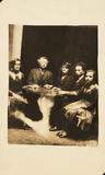 A seance, c 1920.