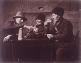 Old men smoking and drinking, Pas de Calais, France, c 1904.