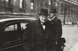 Winston Churchill on his way to the House of Commons, February 1943.