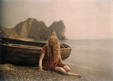 Christina by the boat, 1913.