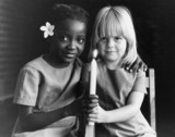 Children celebrating the independence of Zimbabwe, 20 December 1979.