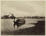 Lake and barracks, Colombo, Ceylon, c 1870.