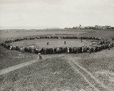 Open Championship golf at Hoylake, 4 July 1956.