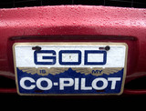 'God is my co-pilot' plate on car, New Jersey, USA, 2007.