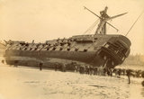 Wreck of HMS 'Foudroyant', Blackpool, 1897.