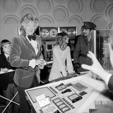 Jon Pertwee at the Science Museum, December 1972.