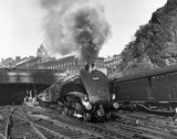 'Silver Link' leaving Edinburgh Waverley Station, 1958.