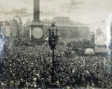Armistice Day, Trafalgar Square, 1918.