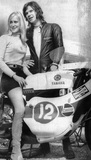 Barry Sheene and girlfriend Lesley Shepherd, April 1971.