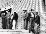 Striking Mexican farm hands applying to the FSA for relief, California, USA, 1938.