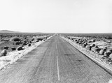 Route used as a crossing by refugees, New Mexico, USA, June 1938.