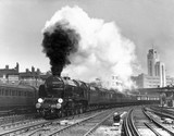 The 'Lord Anson' steam locomotive leaving London Victoria, 1939.