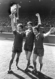 Liverpool with the League Championship trophy, 3 May 1980.
