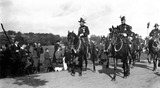 King George V on horseback, c 1910s.