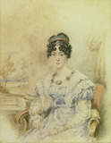 Georgiana Babbage, wife of Charles Babbage, c 1825.