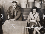 A tailor and his assistant at work, March 1930.