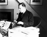 JB Priestley, English writer and broadcaster, 1940.