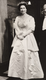 Queen Elizabeth arriving at the Royal Variety Performance, 1960.