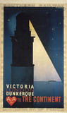 """'Victoria/London/Dunkerque to the Continent', SR poster, 1927."""