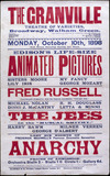 Music hall poster for the Granville Theatre