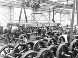 """Workers at Earlestown Carriage and Wagon Works, Merseyside, 1926."""