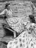 """""""Two women in summer clothes, c 1948."""""""