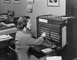 """Switchboard operator, 1954."""