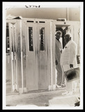 """Telephone kiosks, Agenzia Stefani, Italy, c 1950s. """