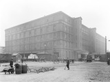 """Warehouse at Sandon and Canada Dock goods depot, Liverpool, c 1924."""
