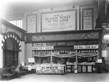 """WH Smith bookstall at Manchester Victoria Station, 1925."""