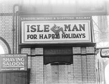 """""""Poster advertising the Isle of Man, Manchester Victoria Station, 1925."""""""