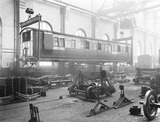 """Carriage manufacture, Newton Heath works, Manchester, 25 February 1927."""