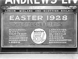 """Poster at Manchester Victoria Station, 5 March 1928. """