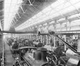 """Erecting shop at Horwich works, Lancashire, c 1890."""