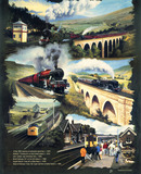 """Cropped version of 'Settle-Carlisle Line', Regional Railways poster, 1992. """