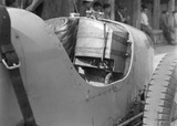 """Cockpit of Bugatti Type 51 racing car, Nurburgring, Germany, 1932."""