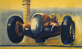 Crooped version of 'Crystal Palace Road Circuit', LMS poster, 1938.