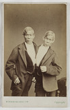 """The 'Siamese Twins', Eng and Chang Bunker, c 1870."""