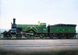 Great Northern Railway 4-2-2 locomotive no 773, c 1900.