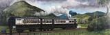 The Coniston Steam Motor Train on the Furnes Railway, Cumbria, 1910.