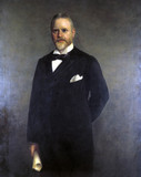 Sir William Pollitt, British railway promoter and government official, 1896.