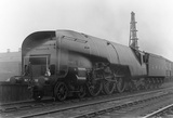 London & North Eastern Railway 4-6-4 class W1, locomotive no.10000 at Haymarket. Edinburgh, Scotland, 1930.