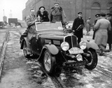 British rally winners on their return from the Monte Carlo Rally