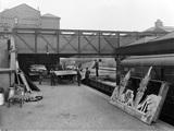Theatrical train at Nottingham unloading scenery.