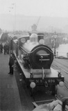 South Eastern and Chatham Railway (SECR) Locomotive no.494 'Wainwright' on boat train at Admiralty Pier Dover 5th May 1905. BTC_1160_62.