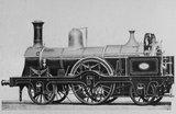 South Eastern Railway  (SER) 2-2-2 locomotive no. 204.